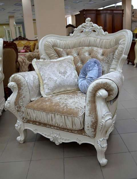 Белое кресло, фото комплекта Идальго Аванти в Украине