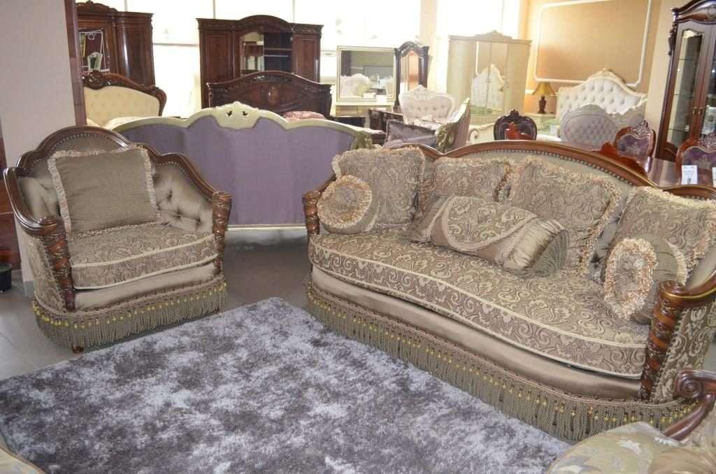 Классический набор мягкой мебели Аристократ: диван и кресло