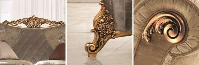 золотой декор дивана и кресел Симфония от Арредо Классик