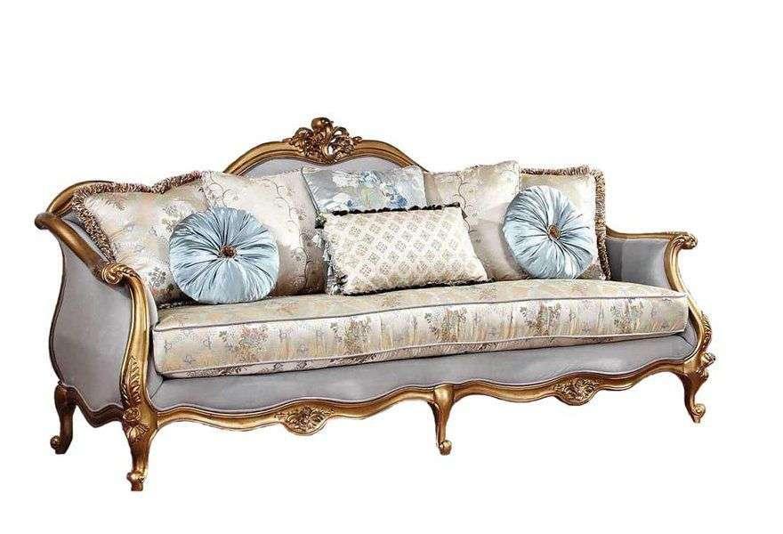 трехместный диван с золотой патиной Kamelot