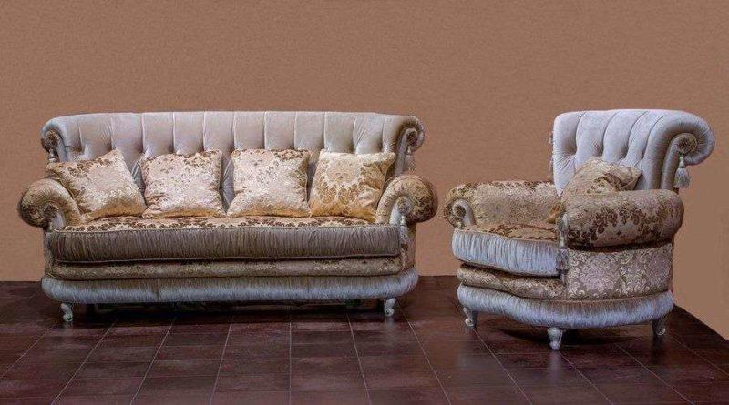 Раскладной трехместный диван Модесто с креслом купить в Одессе