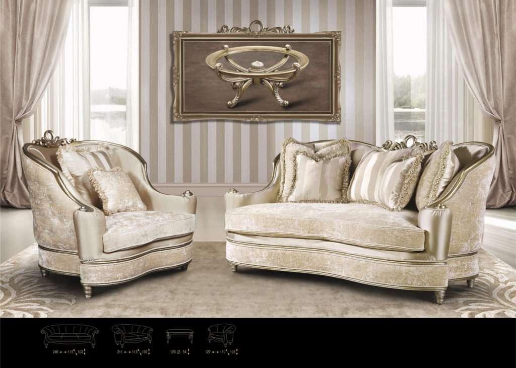 Моцарт диван в золотом цвете: фото интерьера