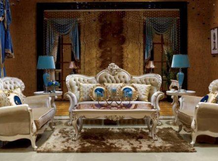 Двухместный элитный диван Пале Рояль в гостиную. Купить в Киеве.
