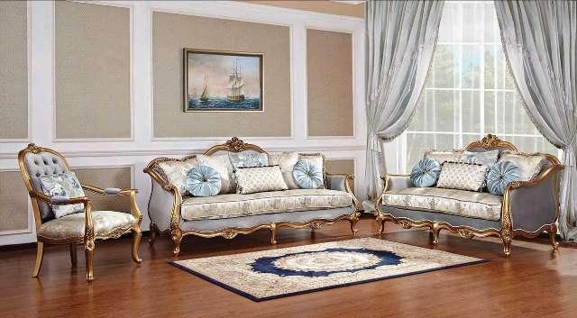 Богатый золотой диван Камелот в цвете золотой антик