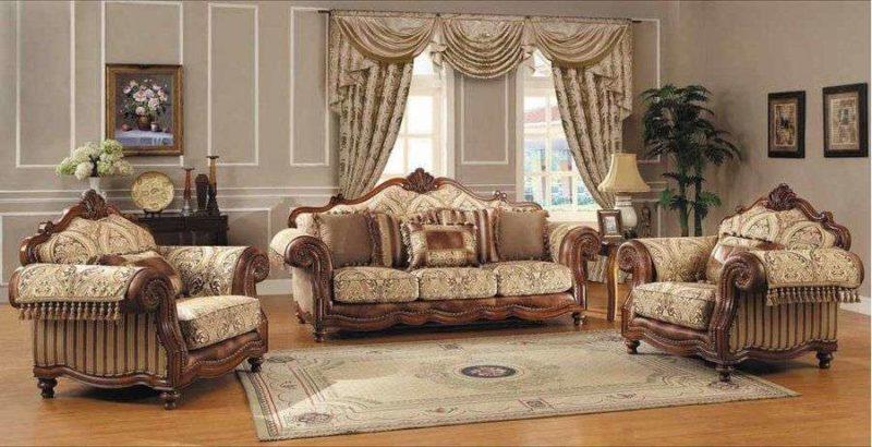 Классический коричневый диван Маркиз