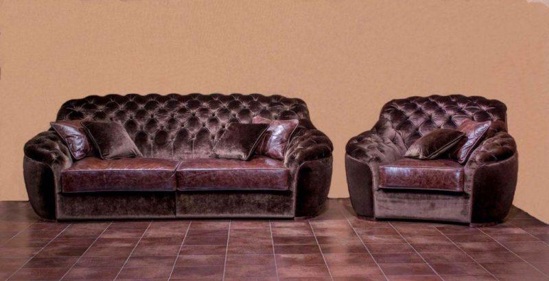 Прямой мягкий элитный диван Маурицио