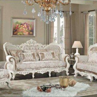 Белый резной комплект мягкой мебели Наполеон, Беллини