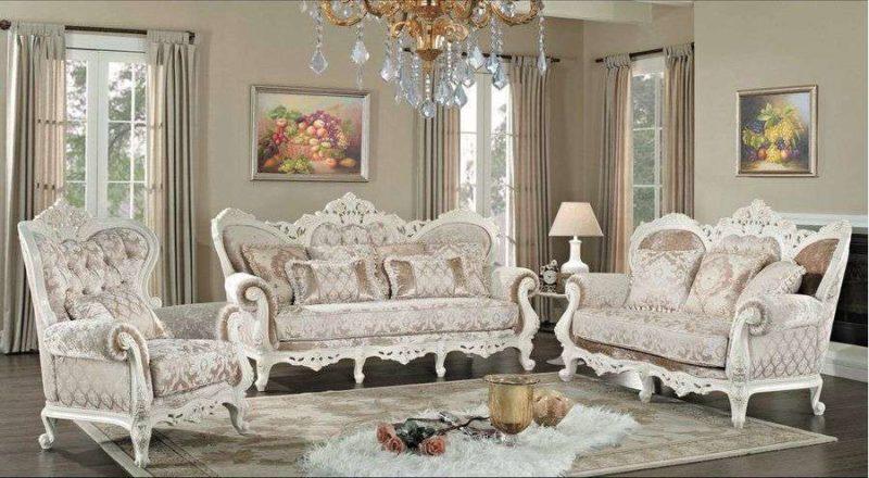 Белый комплект мебели в гостиную комнату Наполеон.