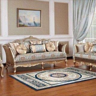 Классический диван элит-класса в золоте Отелло