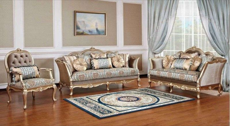 Классическая мягкая мебель в золоте Отелло.