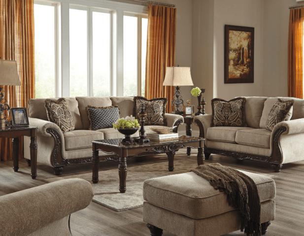 Мягкий диван с креслами Эшли
