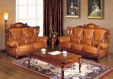 Классический кожаный диван из массива Сarpenter 201.Испания