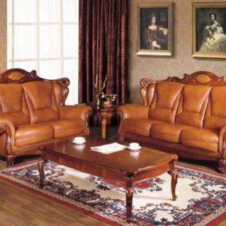 Классический кожаный диван Сarpenter 201