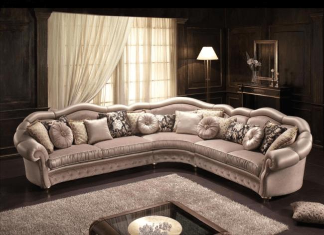 Угловые диваны в классическом стиле: фото каталог элитный диванов