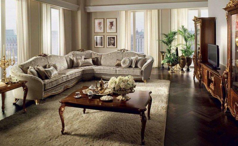 Большой угловой диван Donatello из массивa от Arredo Classic.