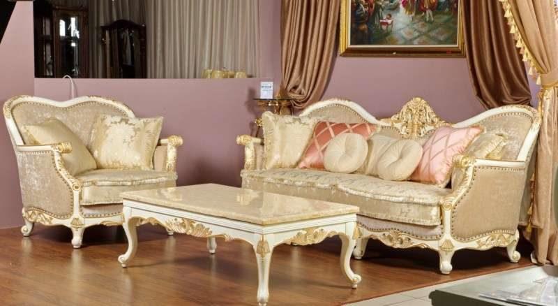 Золотой классический диван Рамирес
