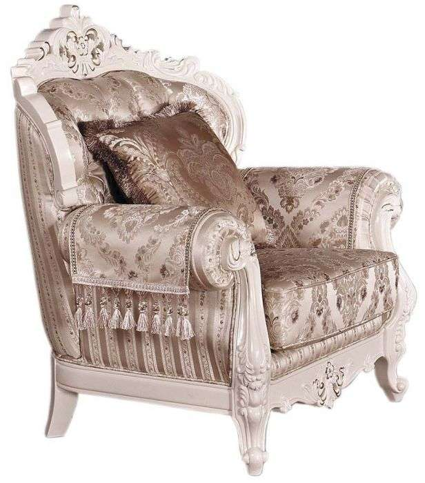 Классическое резное кресло к угловому дивану Олимп