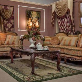Дорогой коричневый диван Рамирес в гостиную