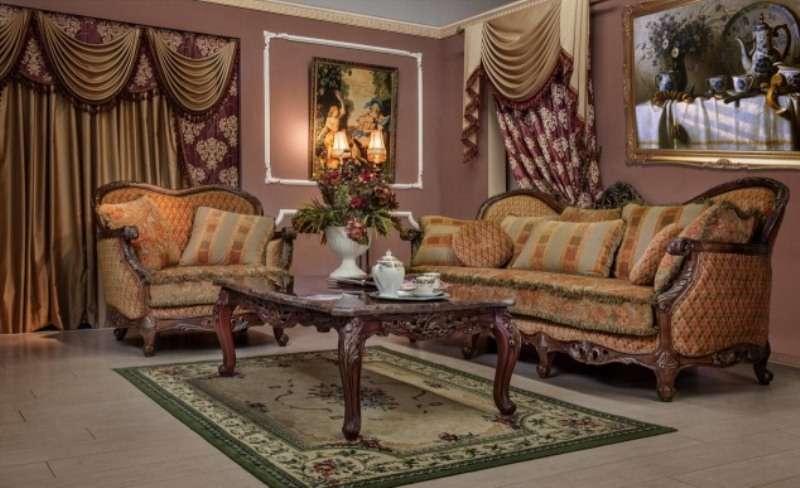 Дорогой коричневый диван Рамирес. Классика.