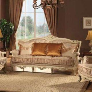 Мягкий мебельный гарнитур в золотом цвете Версаль