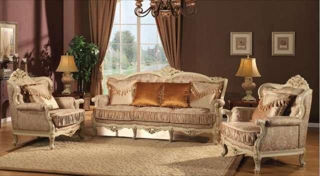 Белый диван в золоте Версаль