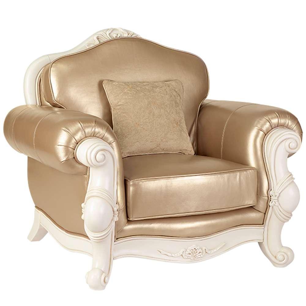 Кресло Карпентер 230 в золотой обивке