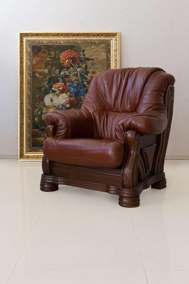 Кожаное кресло из массива Амстердам