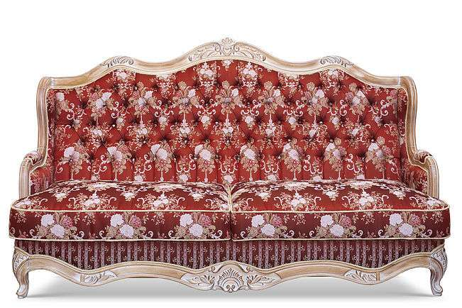 Диван красный в классическом стиле Versace