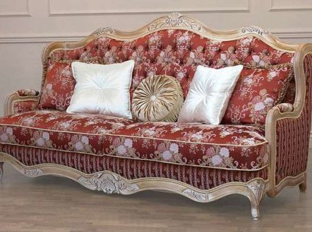 Купить красный диван Versace в классическом стиле от Shalennyy&Co
