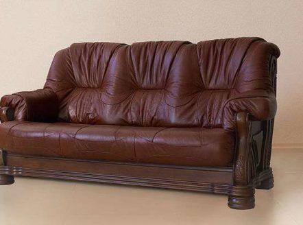 Купить кожаный диван коричневого цвета Амстердам от Shalennyy&Co