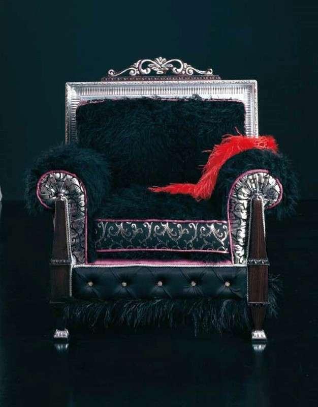Классическое кресло в черном цвете итальянской фабрики Альта Мода