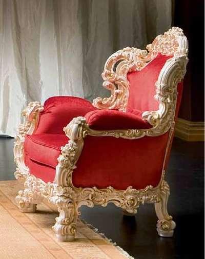 Кресло Орфео от Силик красного цвета
