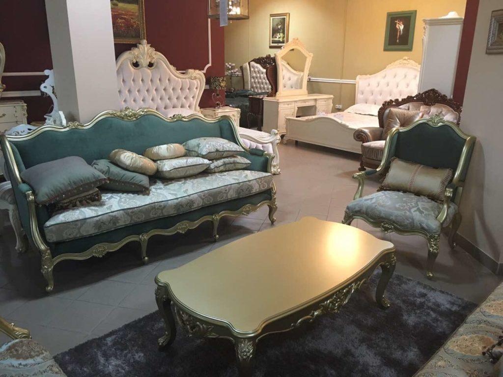 Золотая мебель для гостиной Бальтазар