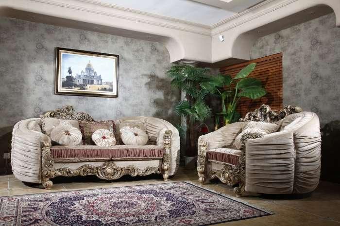 Радиусный диван Белла Рива. Италия. Королевское барокко