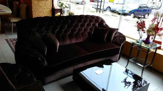 Раскладной диван Мантеласси с отделкой каретная стяжка