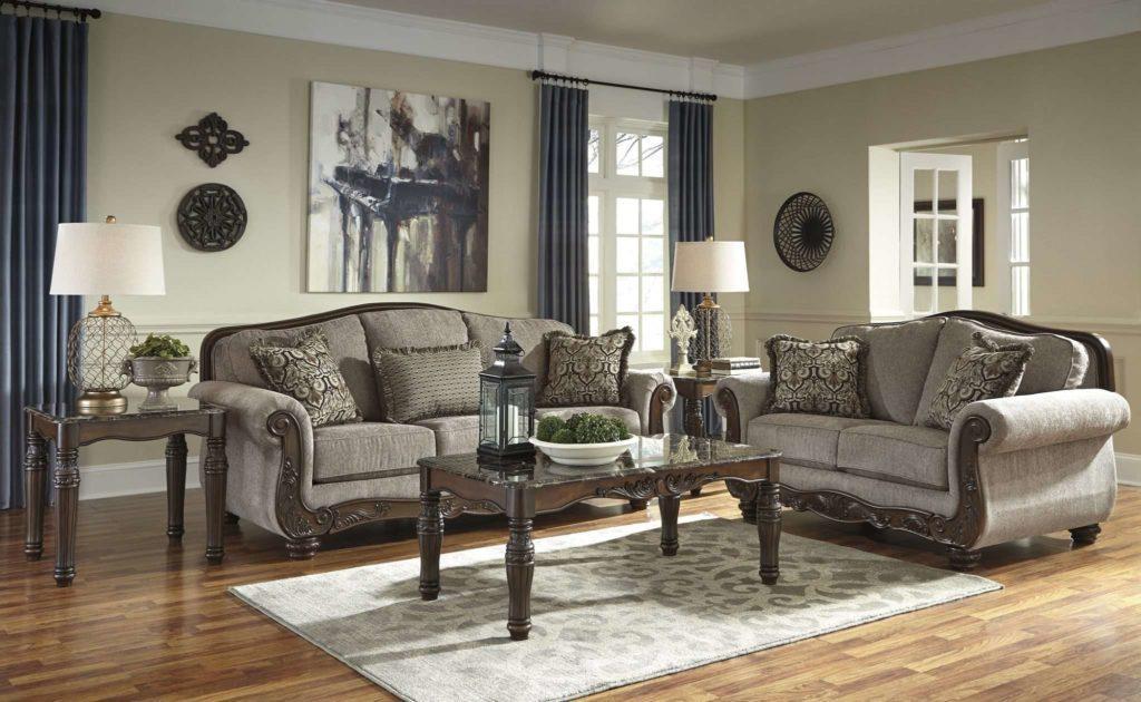 Мягкий комплект мебели Эшли. Диван с креслами в гостиную Эшли