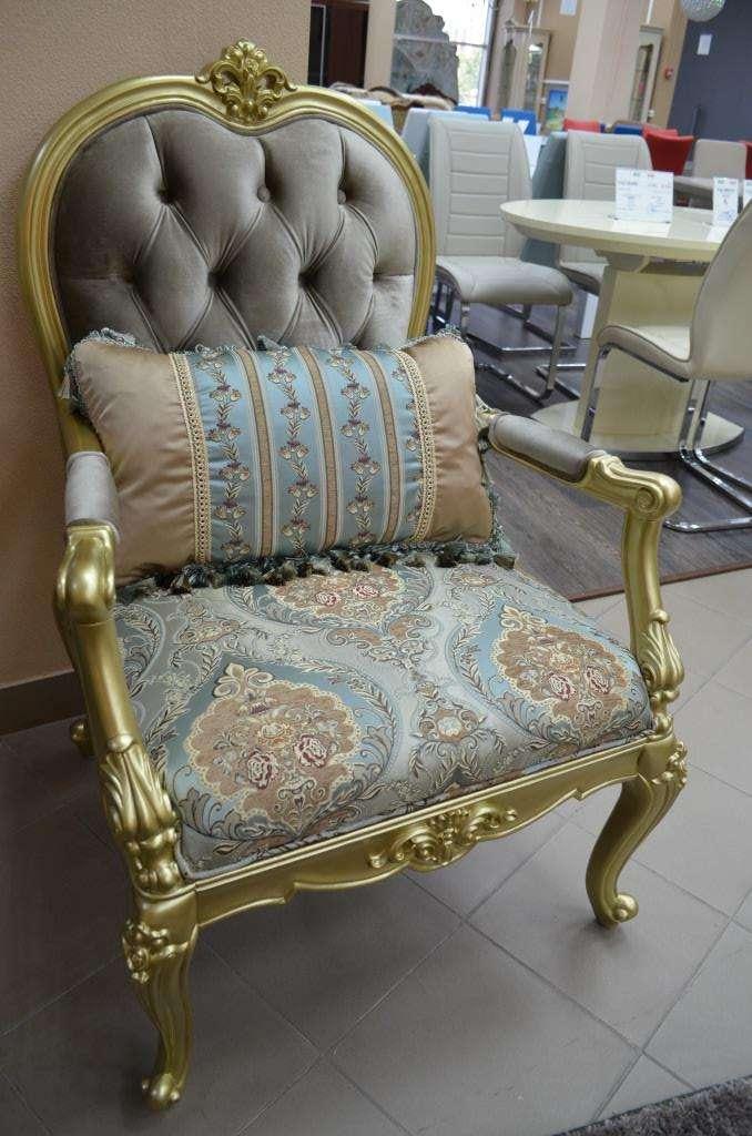 Классическое элитной кресло в золоте антик Отелло.