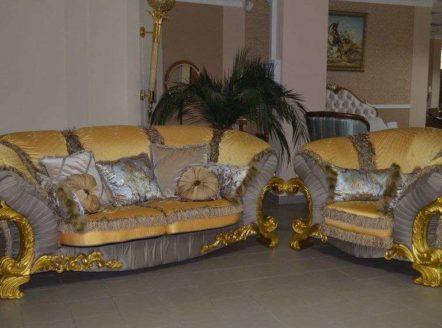 Богатый золотой комплект мягкой мебели Шейх