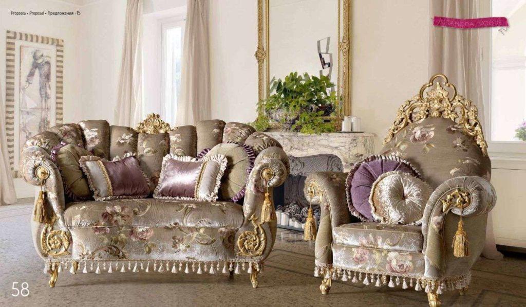 Дорогая классическая роскошная мебель из Италии