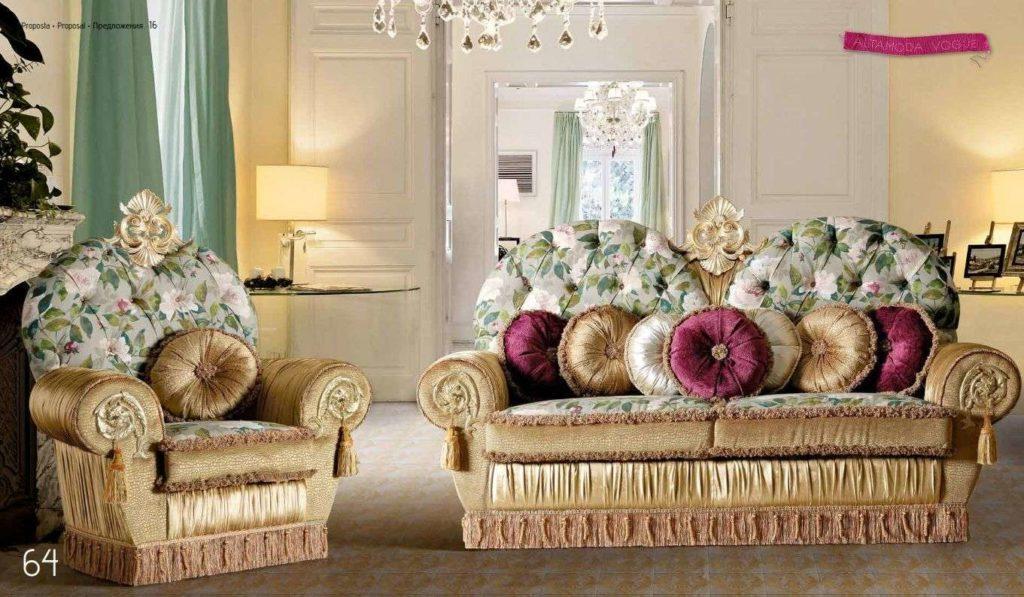 Дорогая классическая мягкая мебель Королева