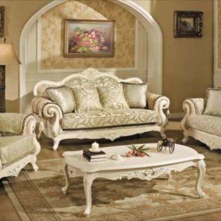 Классический белый диван в золоте Колизей. Беллини
