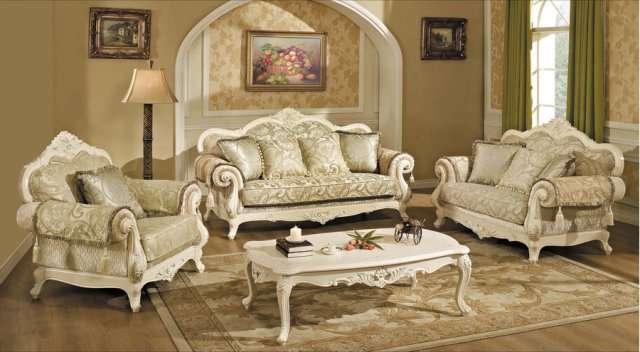 Белая мягкая мебель в золоте Колизей