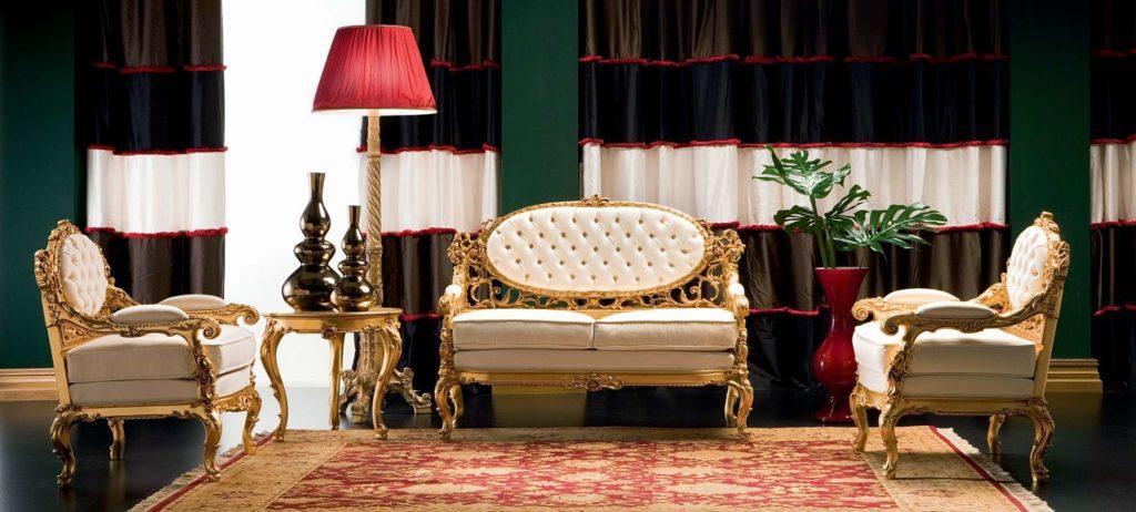 Диван Dedalo в классическом стиле от фабрики Silik