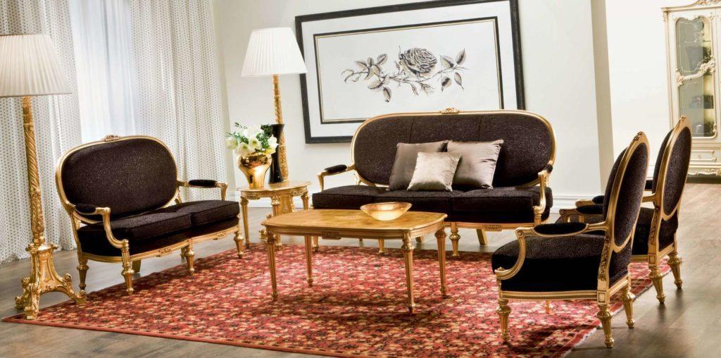 Купить классический диван Edoros в темно-коричневом цвете от SILIK