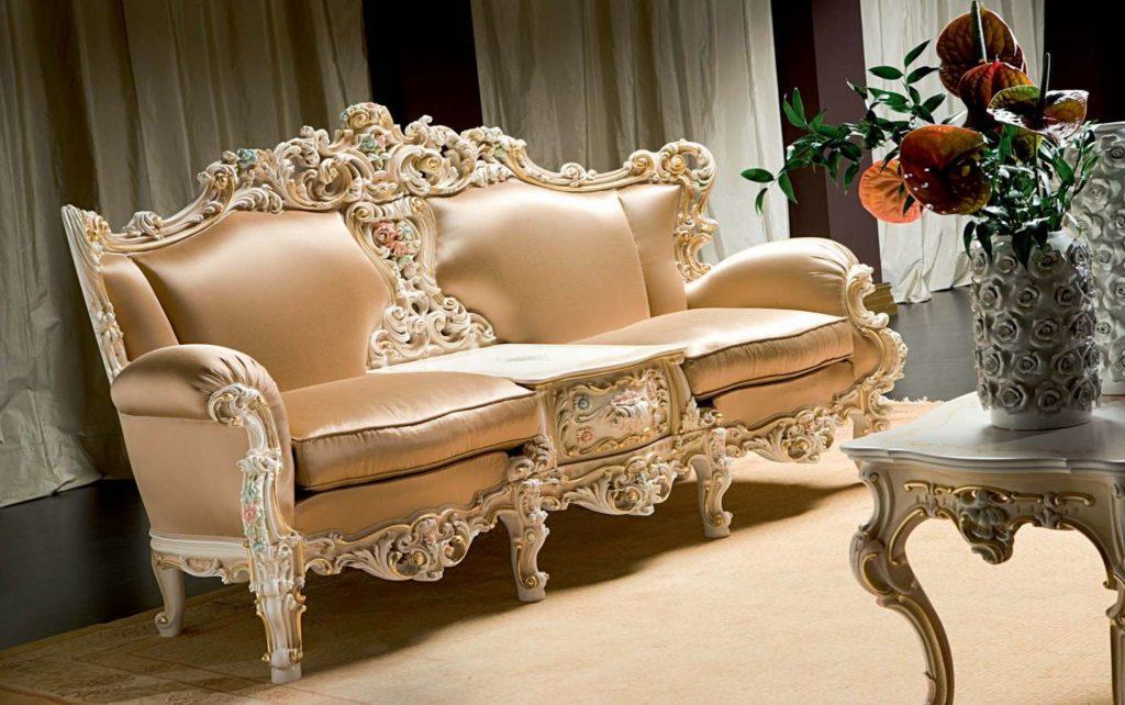 Классический диван Eolo со встроенным столиком от Silik