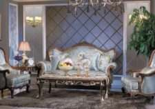 Богатый классический синий диван Казанова.