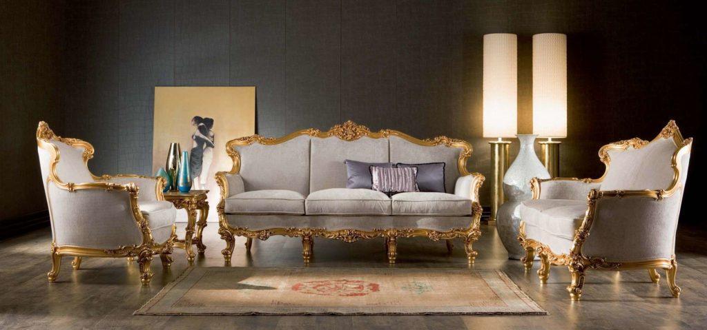 Классический диван Omero с деревянным каркасом