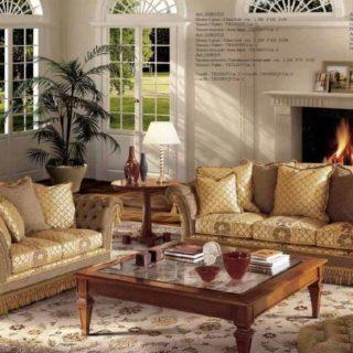 Классический диван в Английском стиле Zola от Angelo Cappellini