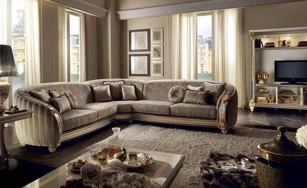 Купить угловой диван Liberty в классическом стиле от Aredoc Classic