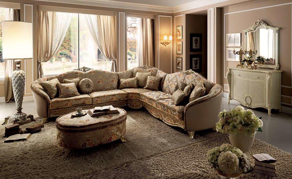 Дорогой итальянский угловой диван Tiziano от фабрики Arredo Classic